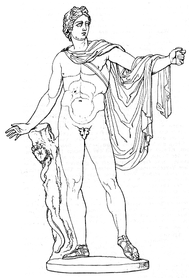 Apollon, aus ''Meyers Konversationslexikon'' (1885-1890)